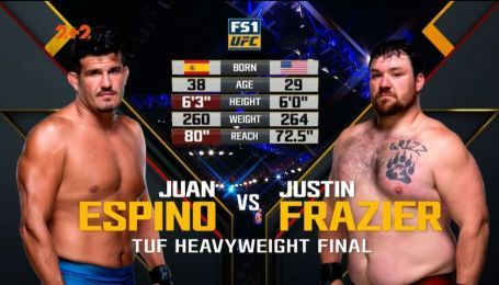 UFC. Хуан Еспіно - Джастін Фразьєр. Відео бою