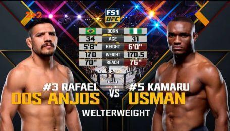 UFC. Рафаэль дос Аньос - Камару Усман. Видео боя