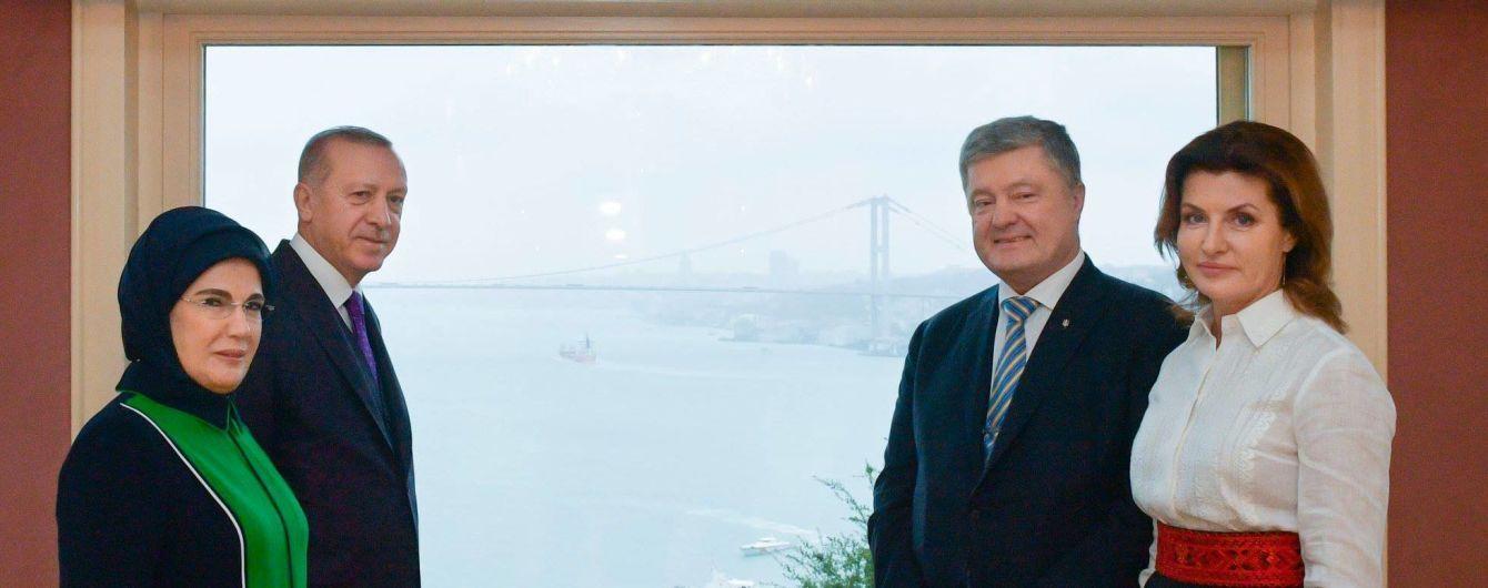 Порошенко зустрівся з Ердоганом у Туреччині