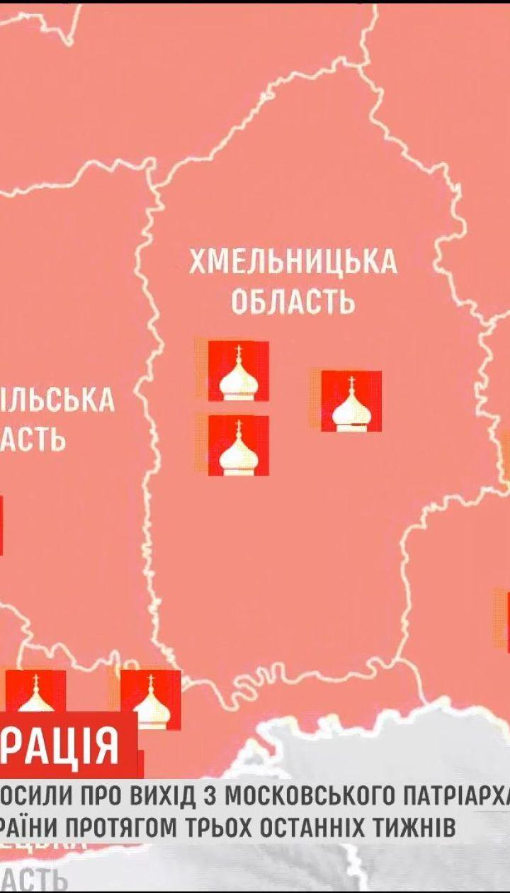 Церковная миграция: около 40 приходов объявили о выходе из Московского патриархата и присоединение к ПЦУ
