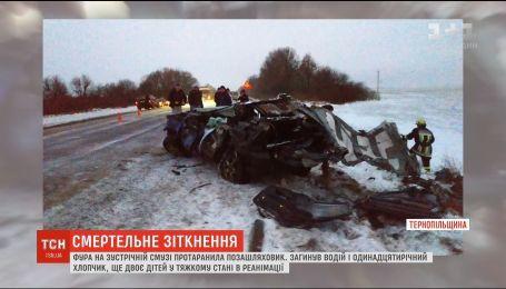 ДТП на Тернопольщине: фура на встречной полосе протаранила внедорожник, погибли водитель и ребенок