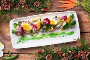 Диетический салат оливье