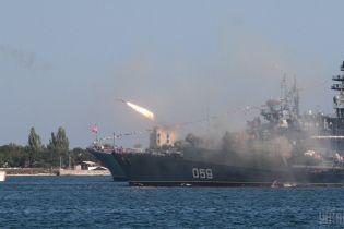 Российские оккупанты провели в Крыму учения с отработкой ракетных ударов по морским целям