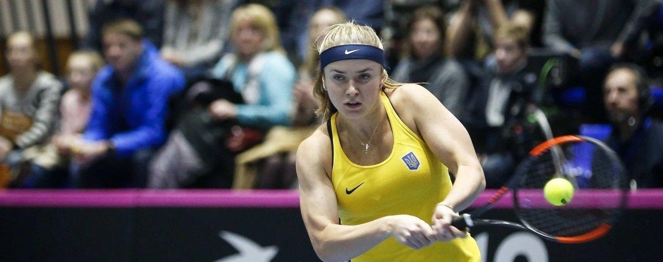 Свитолина попала в заявку сборной Украины на матчи Кубка Федерации