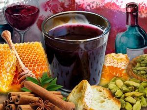 Желе из красного вина