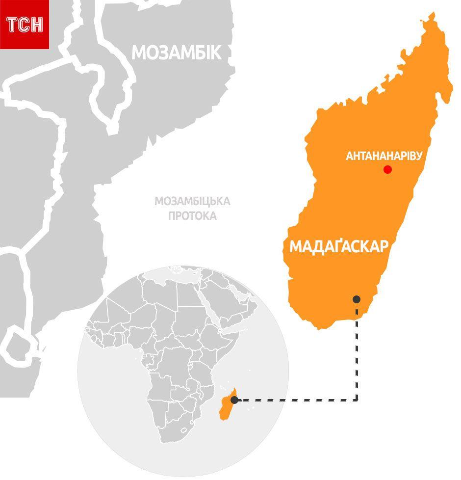 Мадагаскар, мапа, для блогів