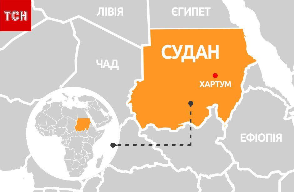 Судан, мапа, для блогів