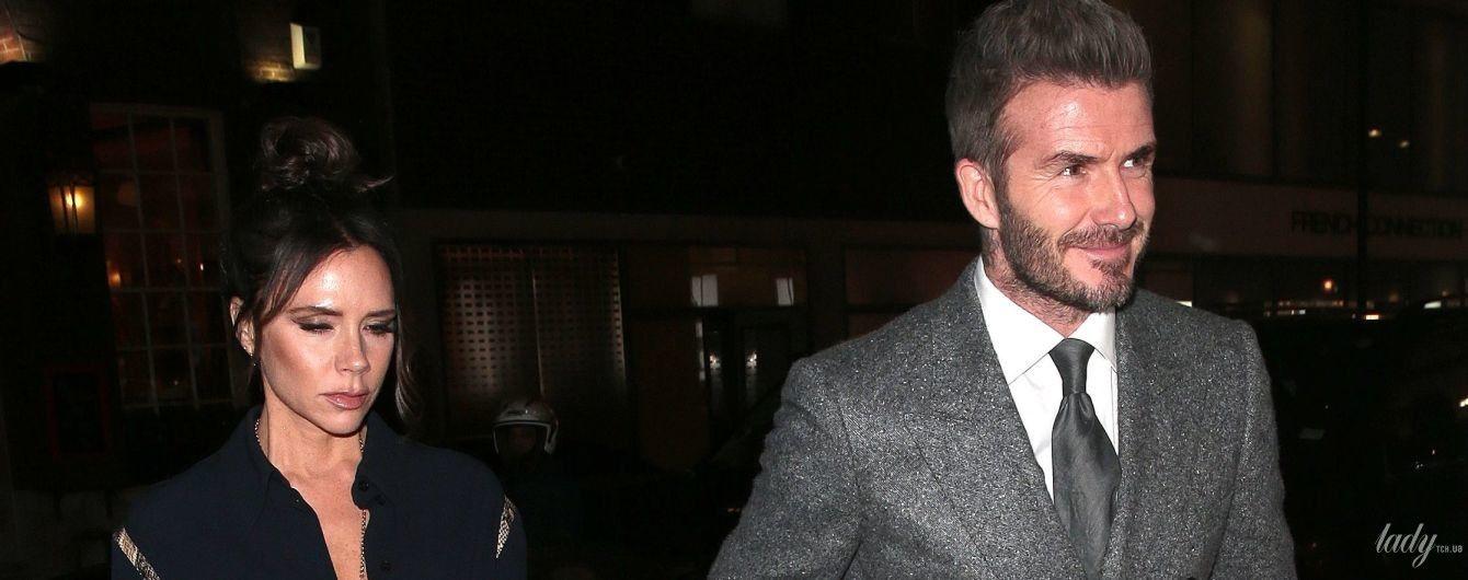 Улыбчивый Дэвид и грустная Виктория: чета Бекхэм сходила на вечеринку в Лондоне