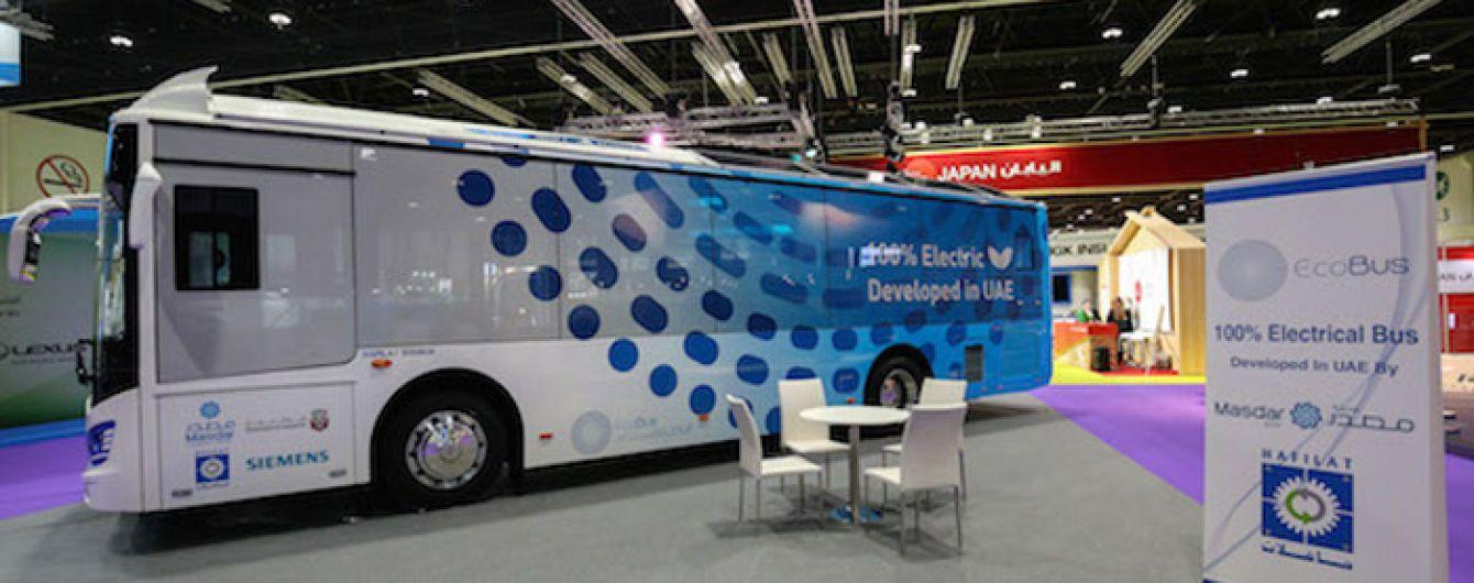 В Эмиратах запустили первый на Ближнем Востоке электробус