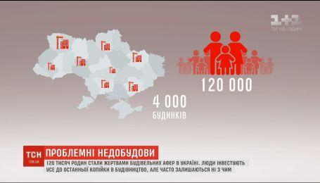 Сто двадцать тысяч семей стали жертвами строительных афер в Украине