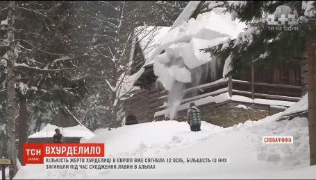 У Європі через снігопади кількість жертв вже сягнула 12 осіб