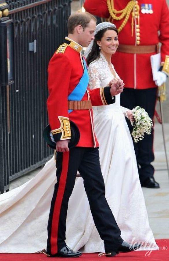 Герцогиня Кембриджская и принц Уильям в день своей свадьбы