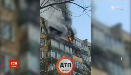 У багатоповерхівці на столичній Троєщині сталася пожежа