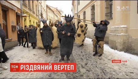 Во Львове проходит массовый рождественский вертеп