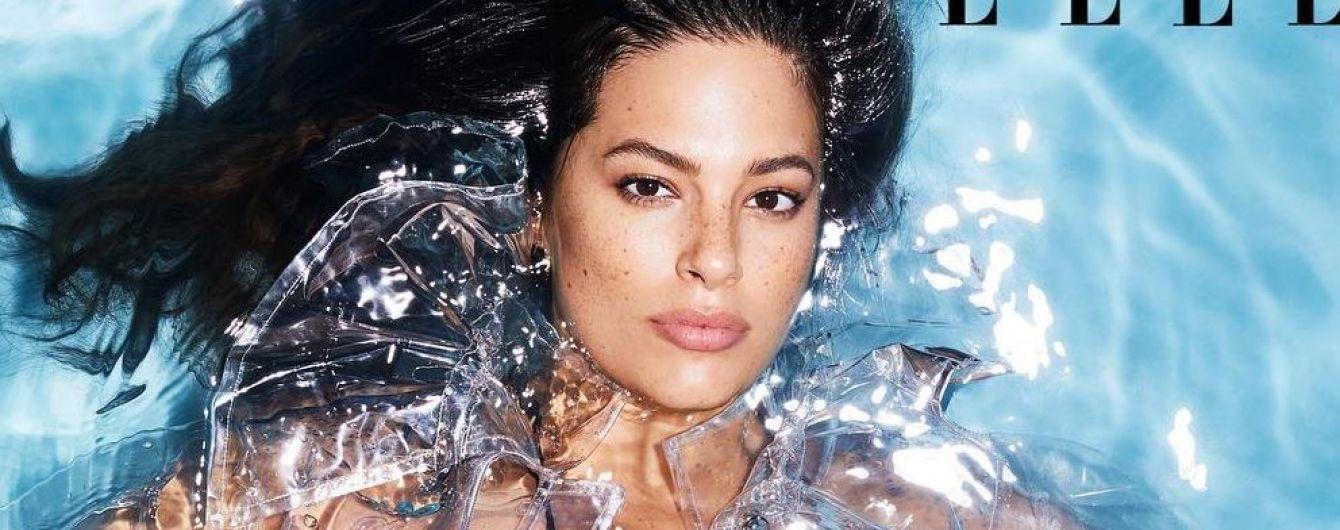 Мокрая и сексуальная: Эшли Грэм позировала в бассейне прямо в одежде