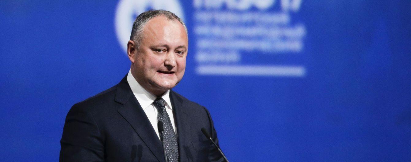 Позиция Молдовы относительно территориальной целостности Украины никогда не менялась – Додон