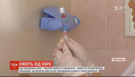 В Украине более 2 тысяч человек заболели корью с начала года
