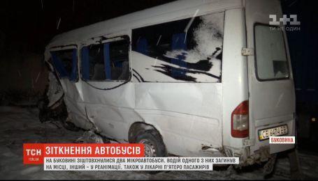 Дві маршрутки зіткнулися на Буковині, одна людина загинула