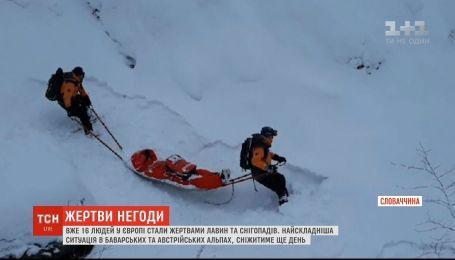 В горах Словакии погиб лыжник