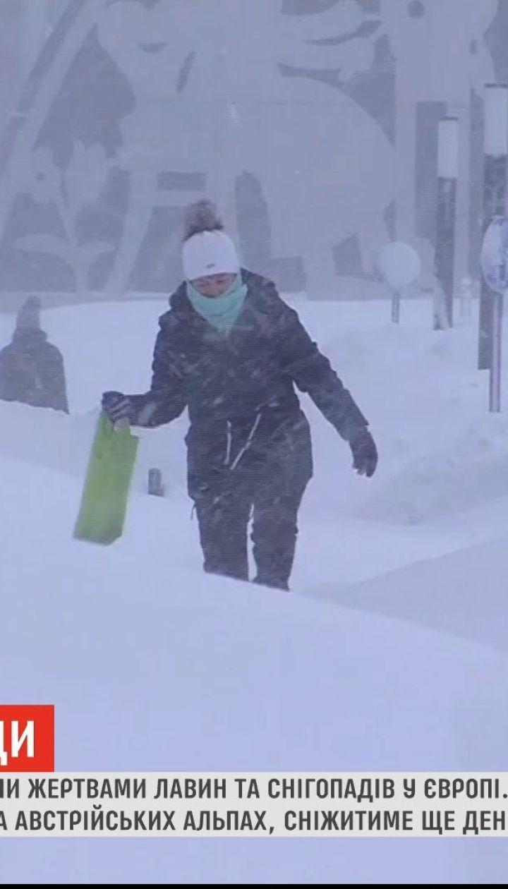 В Европе 16 человек стали жертвами лавин и снегопадов