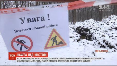 Жители Каменец-Подольского страдают от солярки, которая загадочно просачивается в парках