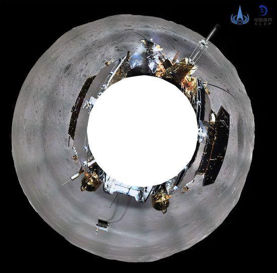 Китайський зонд показав унікальне панорамне зображення зворотного боку Місяця