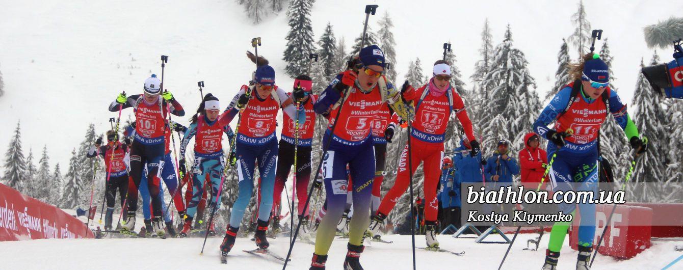 Став відомий склад жіночої збірної України з біатлону на естафету Кубка світу