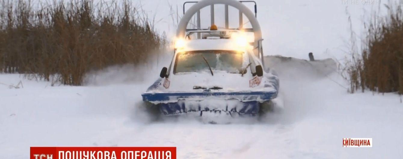 """На """"Киевском море"""" утонул снегоход с рыбаками, есть погибшие"""