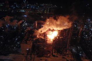 Полиция назвала причину возгорания на химзаводе в Калуше