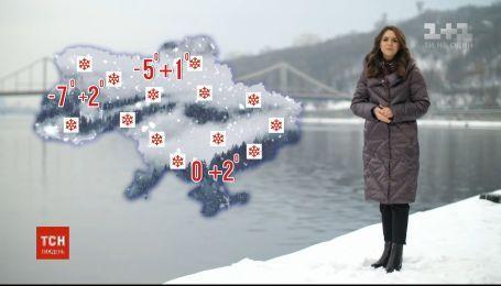 В Украину несутся снегопады с оттепелью