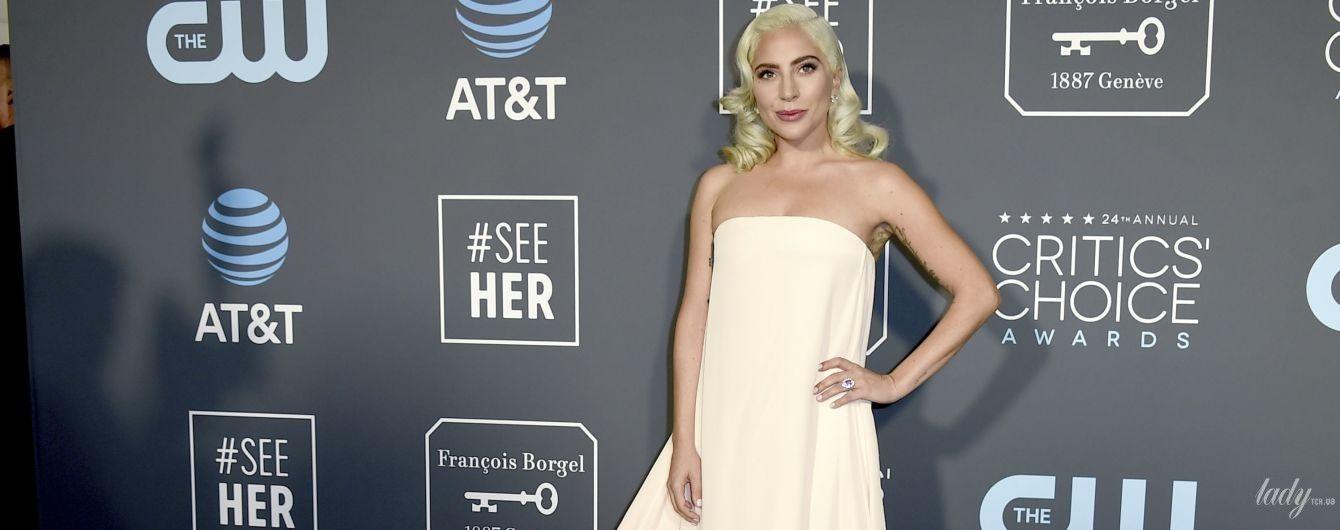 В белом платье со шлейфом: Леди Гага впечатлила нежным образом на церемонии Critics' Choice Awards-2019