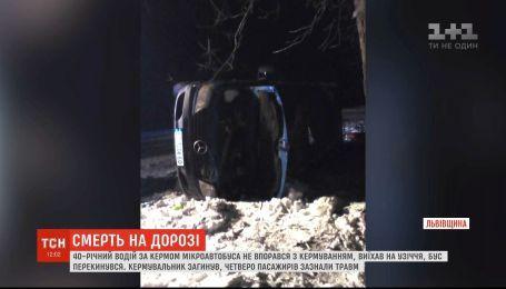 Смертельна ДТП на Львівщині: загинув водій мікроавтобуса
