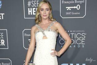 Теж в білому: Емілі Блант в сукні Prada приїхала на церемонію Critics' Choice Awards-2019