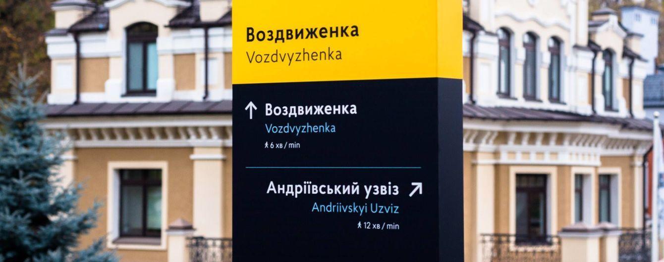 У Києві встановлять сучасні туристичні навігаційні знаки - КМДА