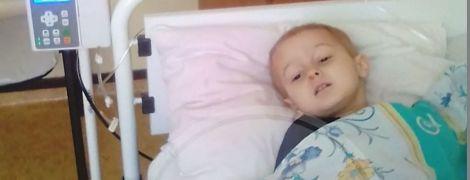 Огромная опухоль поразила маленькое тело Илюши