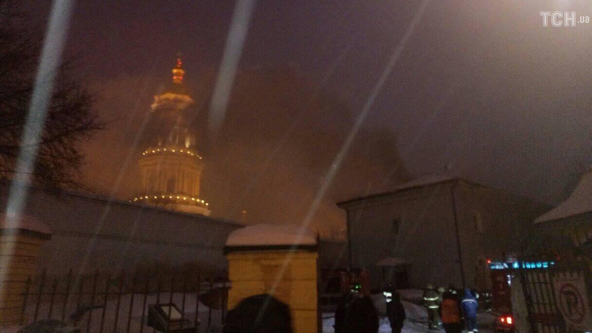 пожежа на території Києво-Печерської Лаври