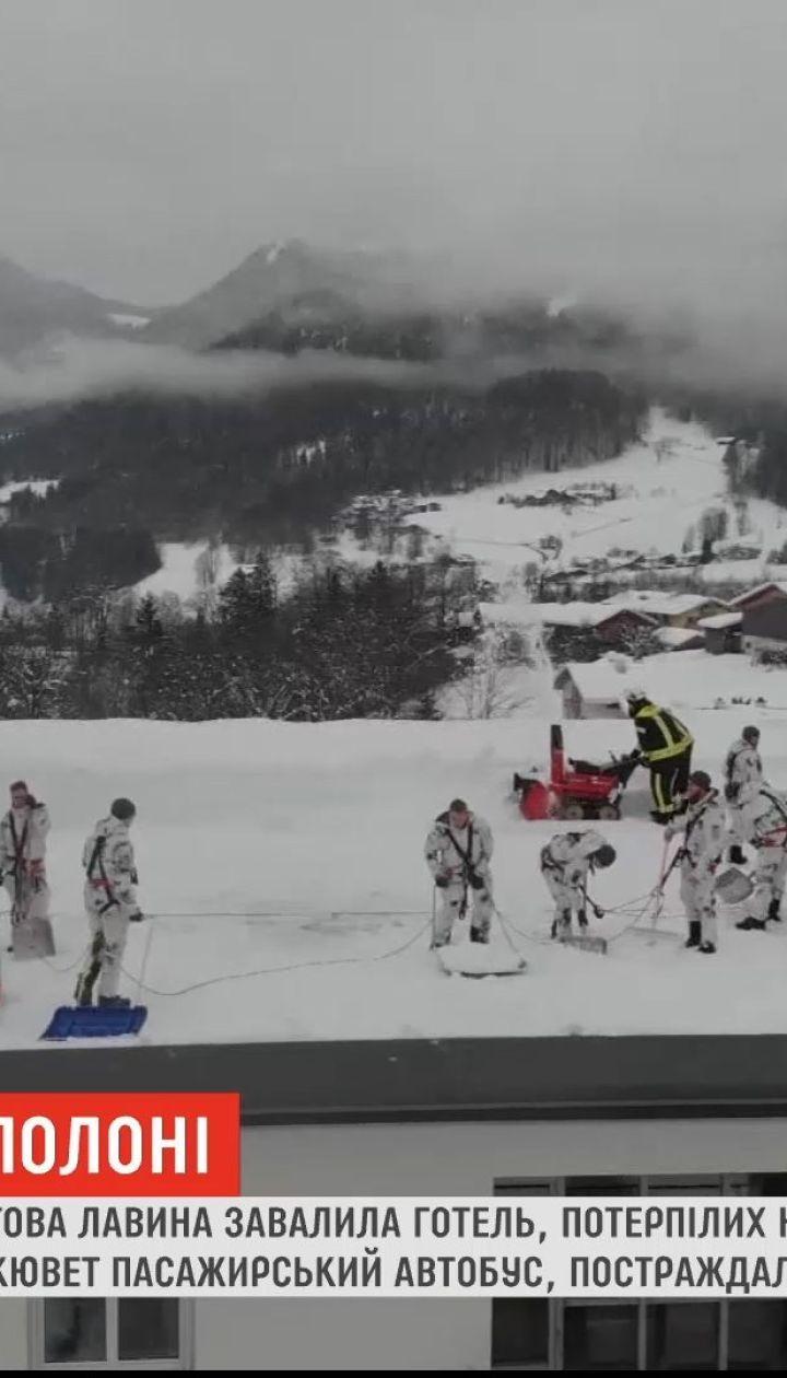 На юге Германии снежная лавина завалила отель, пострадавших нет