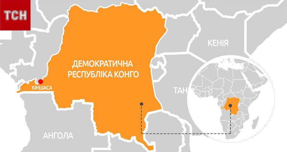 ДР Конго, мапа, для блогів