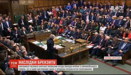 ЕС отреагировал на результаты голосования в парламенте Великобритании по Brexit
