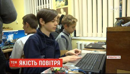 В Ивано-Франковске юные техники смастерили прибор мониторинга качества воздуха