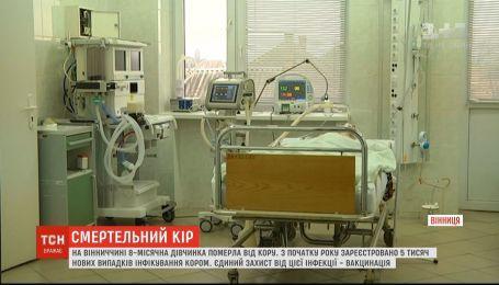 На Вінниччині від кору померло 8-місячне немовля
