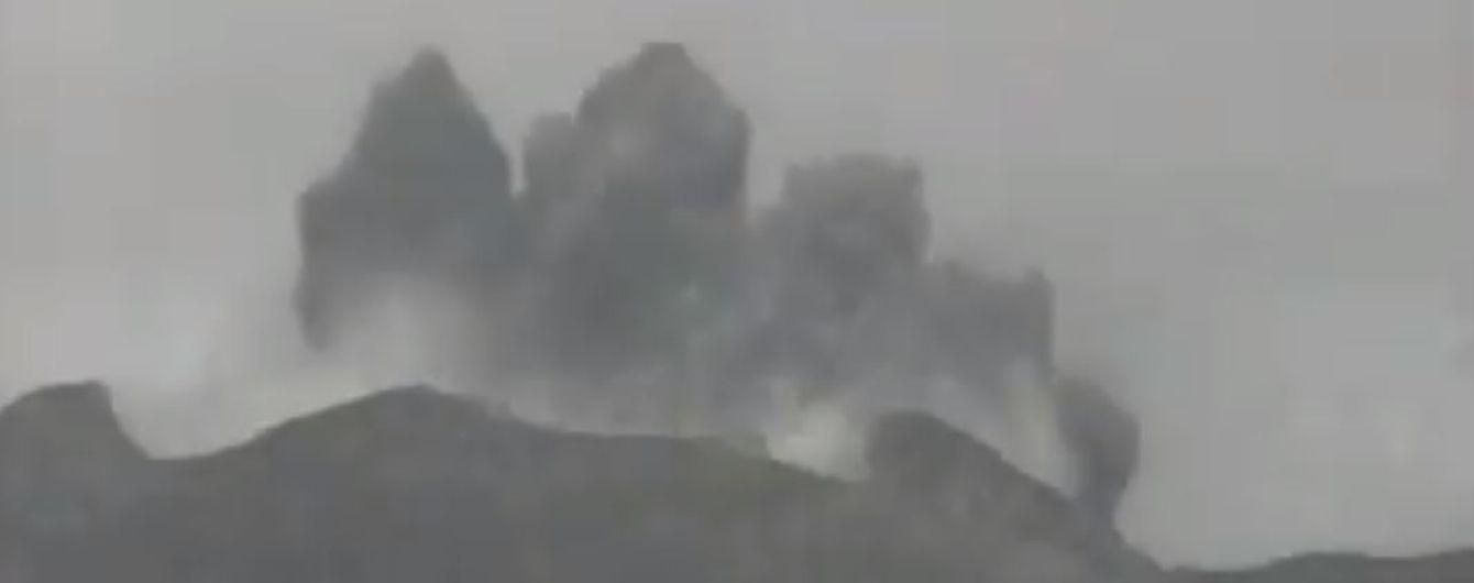 На японском острове произошло извержение вулкана