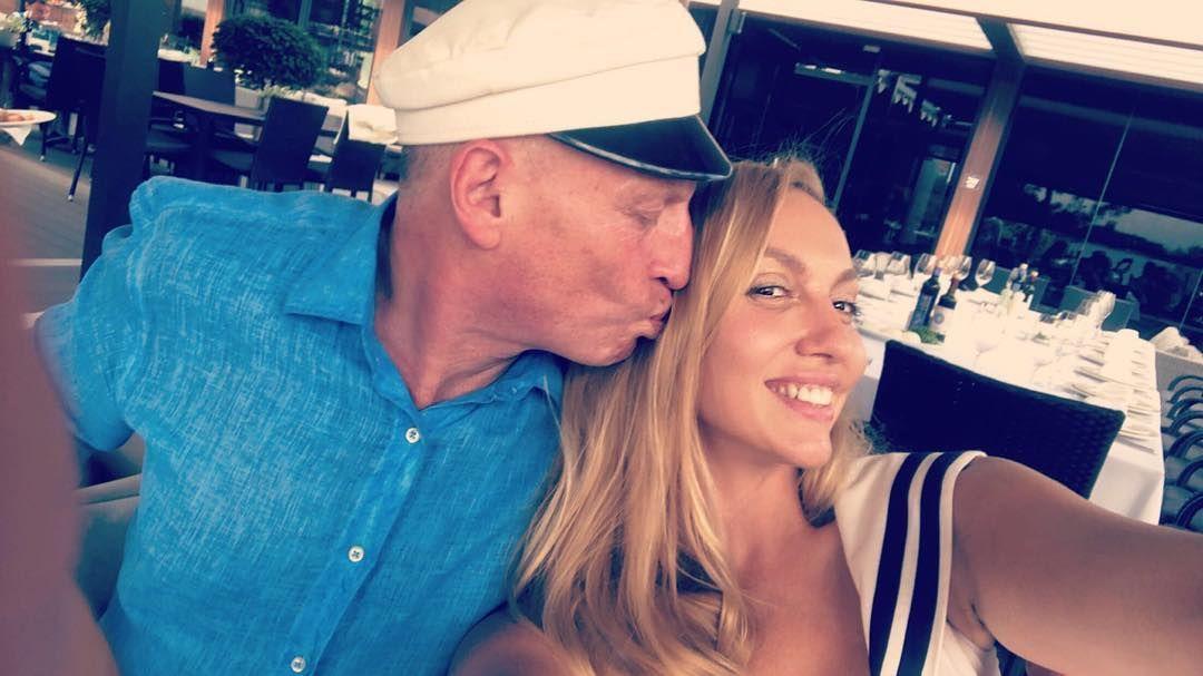 Оля Полякова з чоловіком
