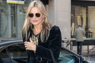 Вся в черном и с сумкой Chanel: Кейт Мосс приехала в Париж