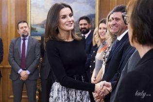 В питоновой юбке и на шпильках: эффектный выход королевы Летиции