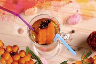 Глінтвейн з обліпихою та апельсином