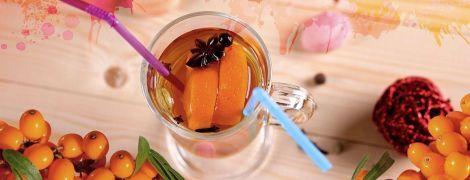 Глинтвейн с облепихой и апельсином