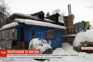 Поліцейські врятували чотирьох дітей із пожежі на Чернігівщині