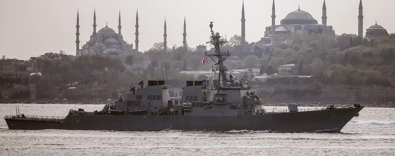 В России отреагировали на вхождение в черное море американского эсминца