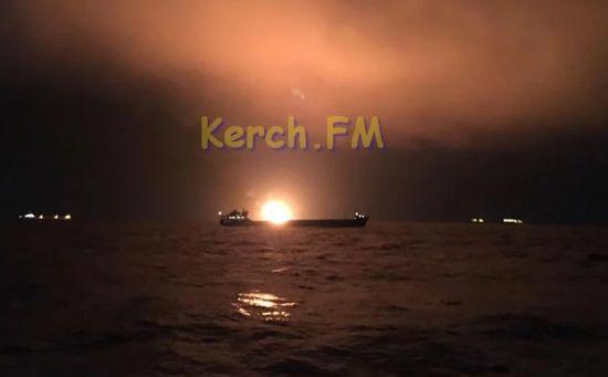 Пожежа у Керченській протоці: постраждалі судна причетні до незаконних поставок газу до Сирії - МінТОТ
